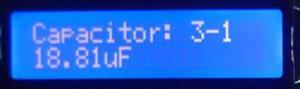Condensator marcat 22µF - masurat 19µF (valoare reala 20µF)