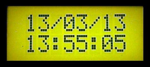 RTC-DS1307 LCD-RC0802A Arduino 2009 - Atmega328